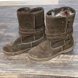 Aetrex Leather Faux Fur Lined Boots